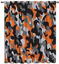 AHJJK Eyelet Curtains Camouflage curtains Blackout