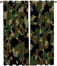 AHJJK Eyelet Curtains Green camouflage curtain