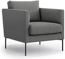 Ahl Armchair Brayden Studio Upholstery Colour: Grey