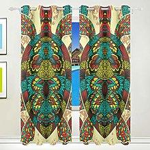Ahomy Afrika Art Turtle Polyester Curtains