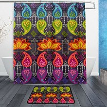 Ahomy Bathroom Curtains Rugs Set of 2, Cute