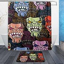 Ahomy Bathroom Curtains Rugs Set of 2, Human