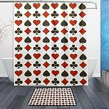 Ahomy Bathroom Curtains Rugs Set of 2, Poker