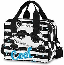 Ahomy Black and White Animal Cool Bear Picnic