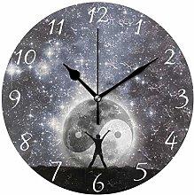 Ahomy Galaxy Star Night Ying Yang Number Wall