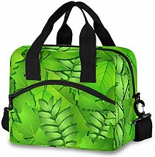 Ahomy Green Spring Leaves Picnic Cooler Bag