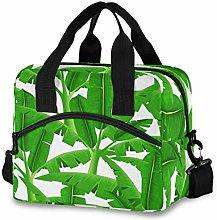 Ahomy Green Tropical Palm Trees Picnic Cooler Bag