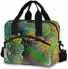 Ahomy Palm Leaves Tropical Green Picnic Cooler Bag