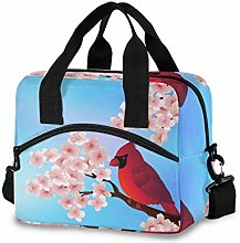 Ahomy Red Bird Cherry Tree Picnic Cooler Bag