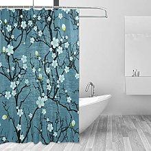 Ahomy Shower Curtain, Japanese Cherry Blossom Oil