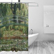 Ahomy Shower Curtain Monet's The Japanese