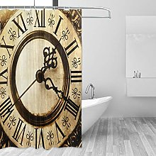 Ahomy Shower Curtain, Old Antique Clock