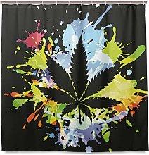 Ahomy Shower Curtains Marijuana Leaf Cannabis