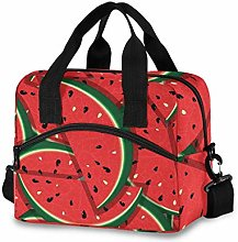Ahomy Slices of Red Watermelon Picnic Cooler Bag