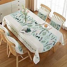 Ahuike Pattern Waterproof Table Cloth Cotton Linen