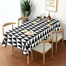 Ahuike Pattern Waterproof Table Cloth Simple Thick