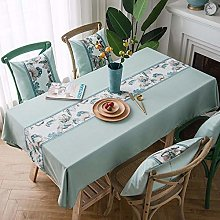 Ahuike Rectangle Tablecloth Table Covers Cotton