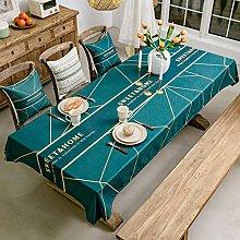 Ahuike Table Cloth Wipeable Tablecloth Rectangular