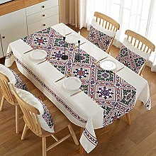 Ahuike Wipe Clean Oilcloth Table Cloth Cotton