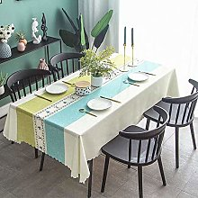 Ahuike Wipe Clean Oilcloth Table Cloth Modern
