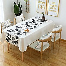 Ahuike Wipe Clean Oilcloth Table Cloth Simple