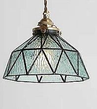 Ahzhlb Blue Glass Pendant Light, Mediterranean