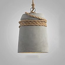 Ahzhlb Cement Pendant Light, Terrazzo Lampshade +