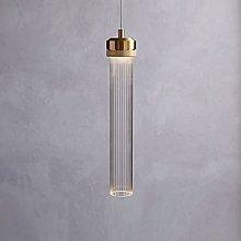 Ahzhlb Glass Pendant Light, Cylindrical Striped