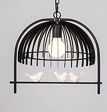 Ahzhlb Wire cage pendant light, metal birdcage