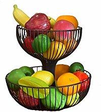 AHZV 2 Tier Fruit Bowl - Countertop Metal Fruit