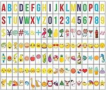 Ai-life 126Pcs Decorative DIY Cinema Signs Emoji