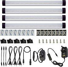 AIBOO Under Cabinet Lights Kit LED Rigid Bar with