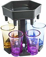 Aiboria 6 Piece Dispenser and Holder, Shot