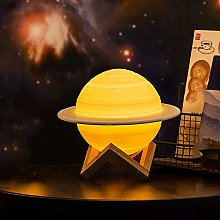 Aiboria Moon Lamp Kids Night Light Saturn Planet