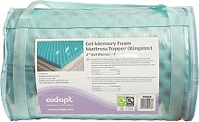 Aidapt 5.0cm Memory Foam Cool Mattress Topper -