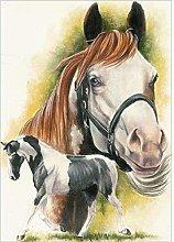 Aidemei 5D DIY Full Dril Diamond Painting Horses