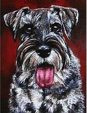 Aidemei Diamond Embroidery Schnauzer Painting