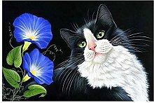 Aidemei Full Diamond Painting Kitten and Flower