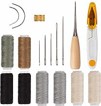AIEX 18Pcs Upholstery Repair Kit Leather Hand
