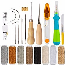 AIEX 22Pcs Upholstery Repair Kit Leather Hand