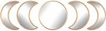 AIFUSI Pack of 5 Moon Phase Wall Mirrors with