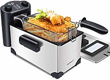 Aigostar Deep Fat Fryer with Dual knobs of Timer &