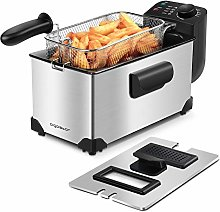 Aigostar Deep Fryer 2200W, 3L, 304 Stainless