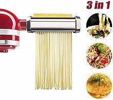 aikeec Pasta Roller & Cutter Attachment 3-in-1 Set