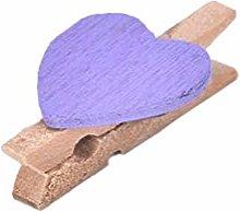 AiKoch 20Pcs Wooden Clothespin Office Supplies