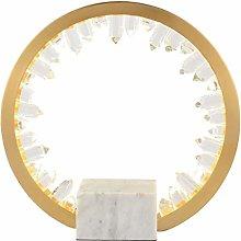 AILI- Table Lamp Desk Lamp Light Ring Crystal