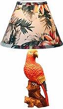 AILI- Table Lamp Desk Lamp Light Tropical Parrot