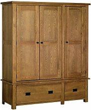 Ailsa 3 Door Wardrobe Union Rustic