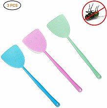 Ailyoo 3 Pieces Plastic Fly Swatter Manual Swat