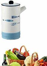 AILZNN Ceramics Dispenser Bottles Set, Soy Sauce